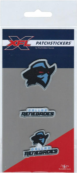 Dallas Renegades PatchSticker 3-Pack