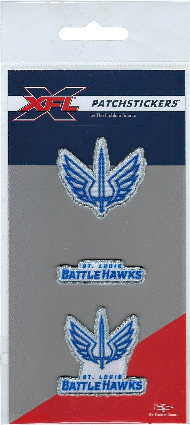 St. Louis BattleHawks PatchSticker 3-Pack