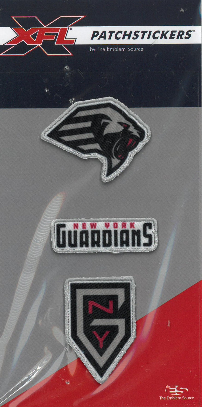 New York Guardians PatchSticker 3-Pack