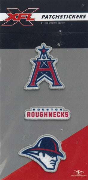 Houston Roughnecks PatchSticker 3-Pack