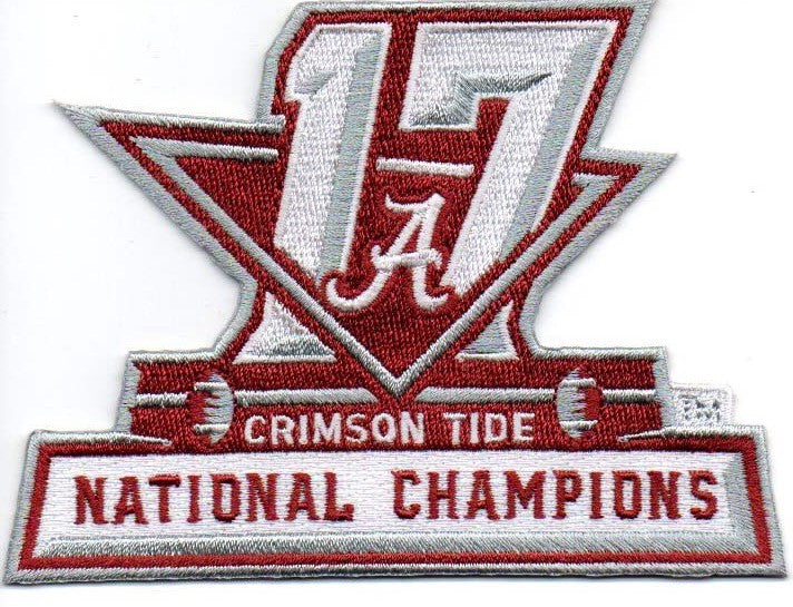 2017 University of Alabama National Champions Patch