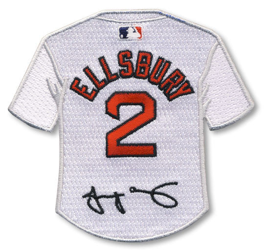 Jacoby Ellsbury jersey patch with signature