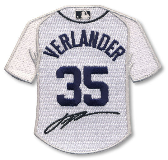 Justin Verlander jersey patch with signature