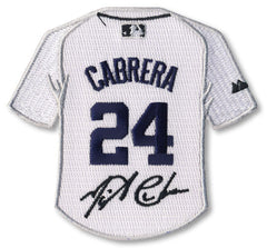 Miguel Cabrera jersey patch with signature