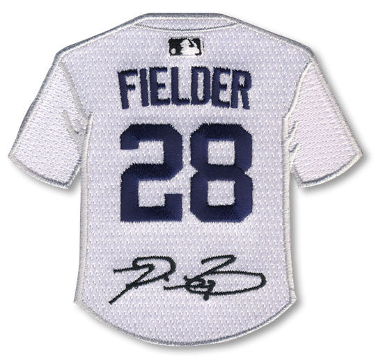 Prince Fielder jersey patch with signature