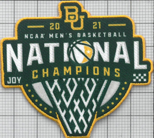 2021 NCAA Men's Basketball Champions Patch (Baylor)