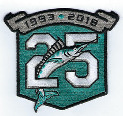 Miami Marlins 25th Anniversary Patch