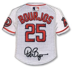 Peter Bourjos jersey patch with signature