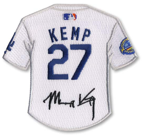 Matt Kemp jersey patch with signature