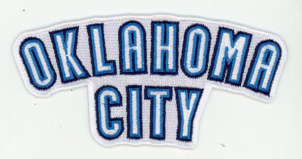 Oklahoma City Thunder Wordmark 2 Logo Patch