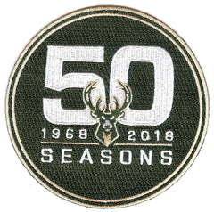 Milwaukee Bucks 50th Anniversary Patch