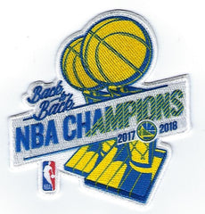 Golden State Warriors Back to Back Champions Patch