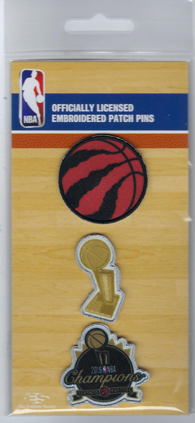 Toronto Raptors Champions Patch Pin set