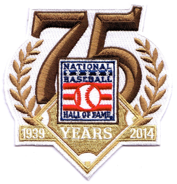 National Baseball Hall of Fame 75th Anniversary Patch