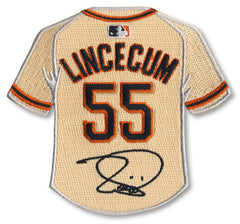 Tim Lincecum jersey patch with signature