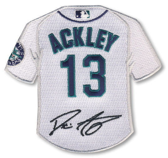 Dustin Ackley jersey patch with signature