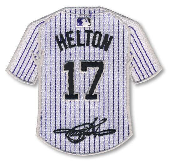 Todd Helton jersey patch with signature