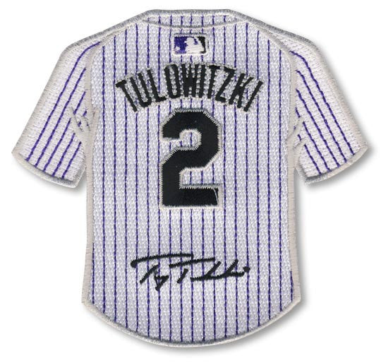 Troy Tulowitzki jersey patch with signature