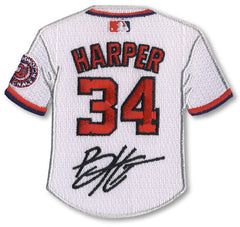 Bryce Harper jersey patch with signature