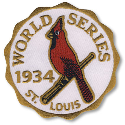 St. Louis Cardinals 1934 World Series Championship Patch