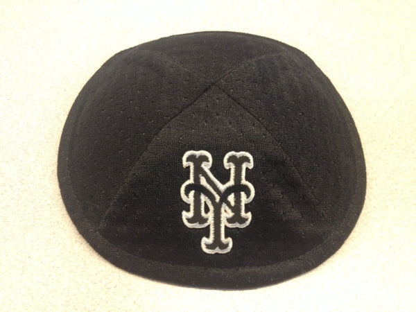 New York Mets Black and White Logo Kippah