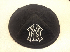New York Yankees Black and White Logo Kippah