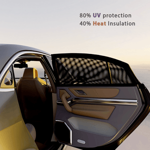 Summer 2x Car Sun Shade Cover for Rear Side Window Provides Max UV Protection