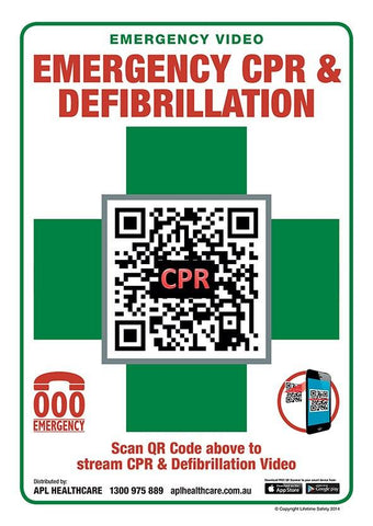 A4 CPR QR Sign - Shop | LivCor Australia