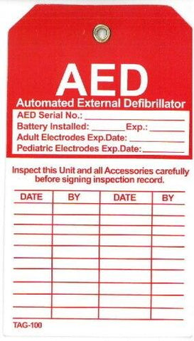 AED Inspection Tag - Shop | LivCor Australia
