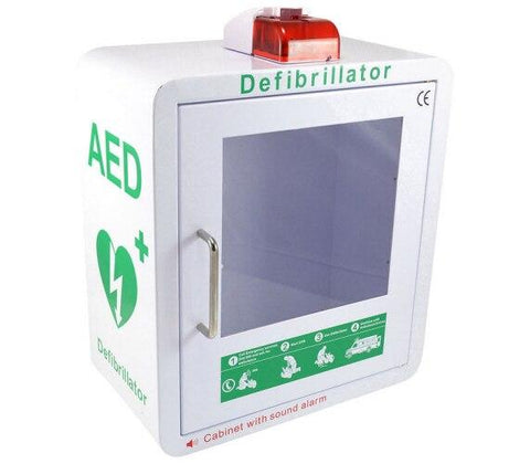 AED Wall Cabinet | Audio Alarm & Strobe Light | White - Shop | LivCor Australia