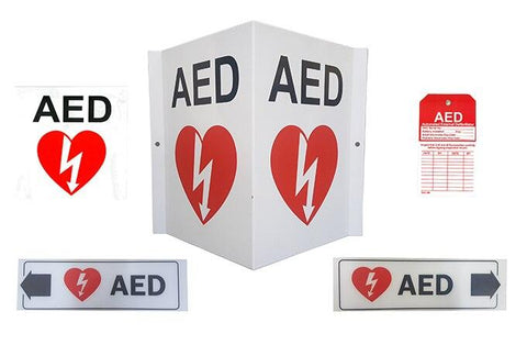 AED Wall Sign Package (Complete) - Shop | LivCor Australia