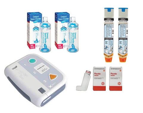 Asthma & Anaphylaxis Trainer Pack | + AED Trainer - Shop | LivCor Australia