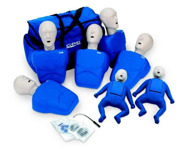 CPR Prompt Blue (5) Adult/Child & (2) Infant Manikins - Shop | LivCor Australia