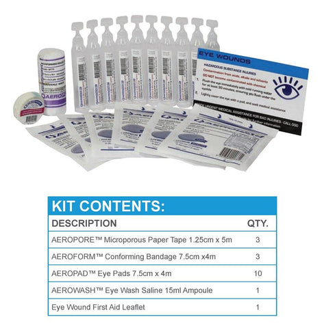 Eye Wash Kit | Hard Plastic Pack - Shop | LivCor Australia
