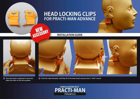 Head Locking Clip Set | Practi-Man Advance - Shop | LivCor Australia