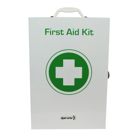 Low Risk | Operator Workplace Compliant First Aid Kit | Metal Wallmount - Shop | LivCor Australia