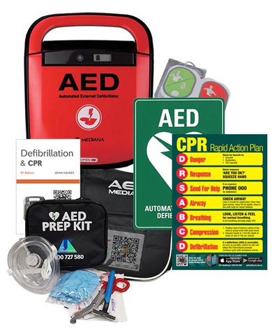 Mediana A15 Adult/Child Defibrillator Package & Wall Cabinet - Shop | LivCor Australia