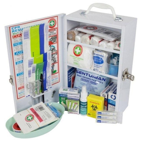 Workplace Compliant First Aid Kit - Metal, Wall-mount - Shop | LivCor Australia