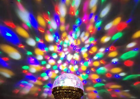 Rotating LED Party Light Bulb
