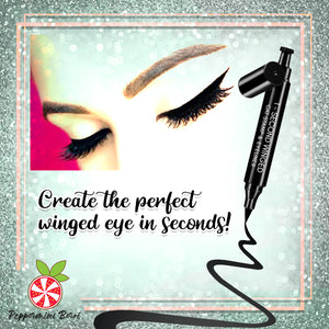 1-Second Winged Cat Stamp & Eyeliner