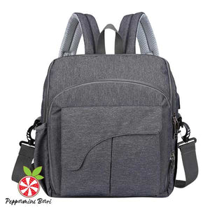 2 in 1 Baby Diaper and Seat Backpack