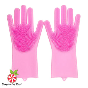 2-in-1 Multipurpose Bristled Cleaning Gloves