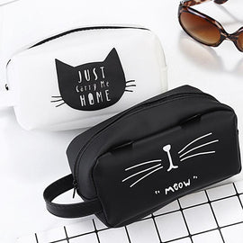 Cat Makeup Case Women Silicone Cosmetic Case Pen Zipper Coin Pouch Purse