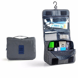 Waterproof Nylon Travel Organizer Bag Women Cosmetic Bag Hanging Makeup Bags Washing Toiletry Kits Storage