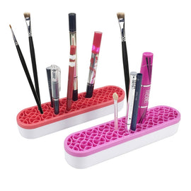 Silicone Makeup Brush Holder Organizer Facial Make Up Brush Drying Rack Flower