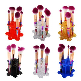 6 Holes Oval Makeup Brush Holder Cosmetic Shelf Brush Holder Tool