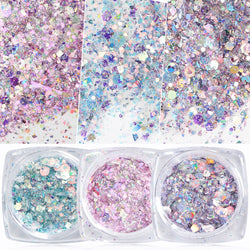 Nail Mermaid Glitter Flakes Sparkly