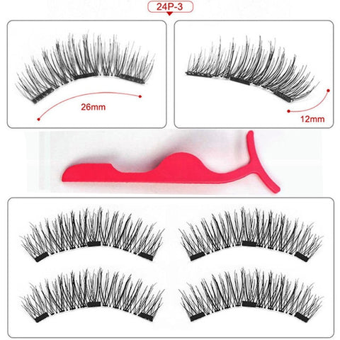 Magnetic eyelashes with 3 magnets handmade 3D/6D