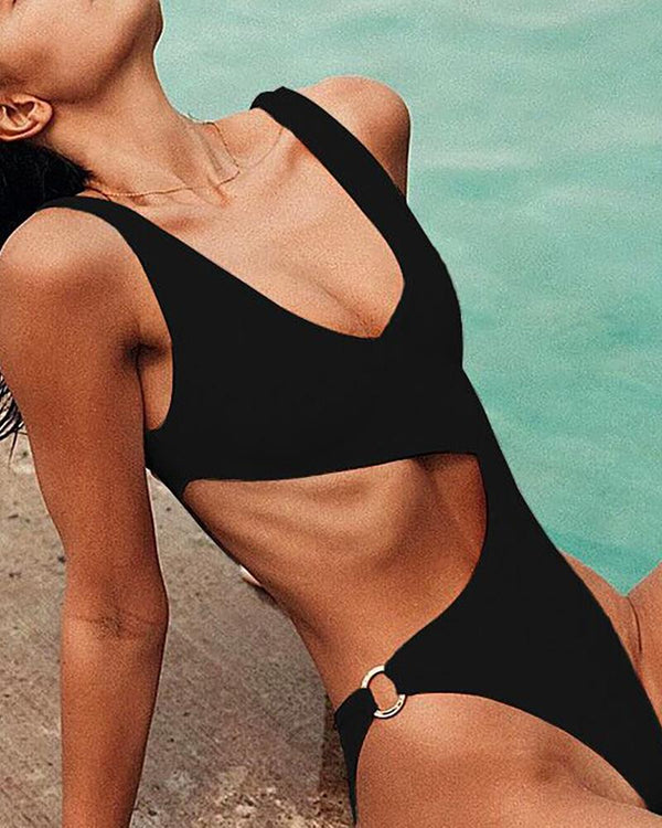 Cut Out Waist One Piece Swimwear