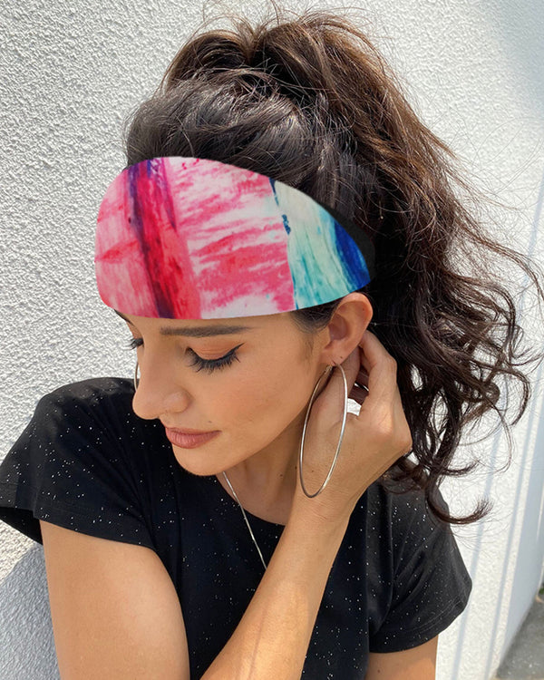 Tie Dye Print Yoga Running Headwraps Hair Band
